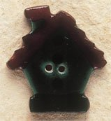 43029 - Dark Green Birdhouse - 1in x 1in